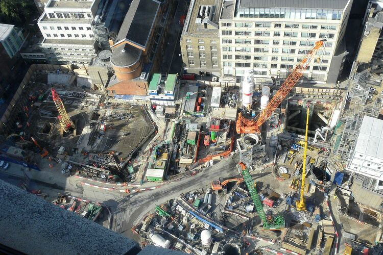 Views from centrepoint tottenham court road crossrail work