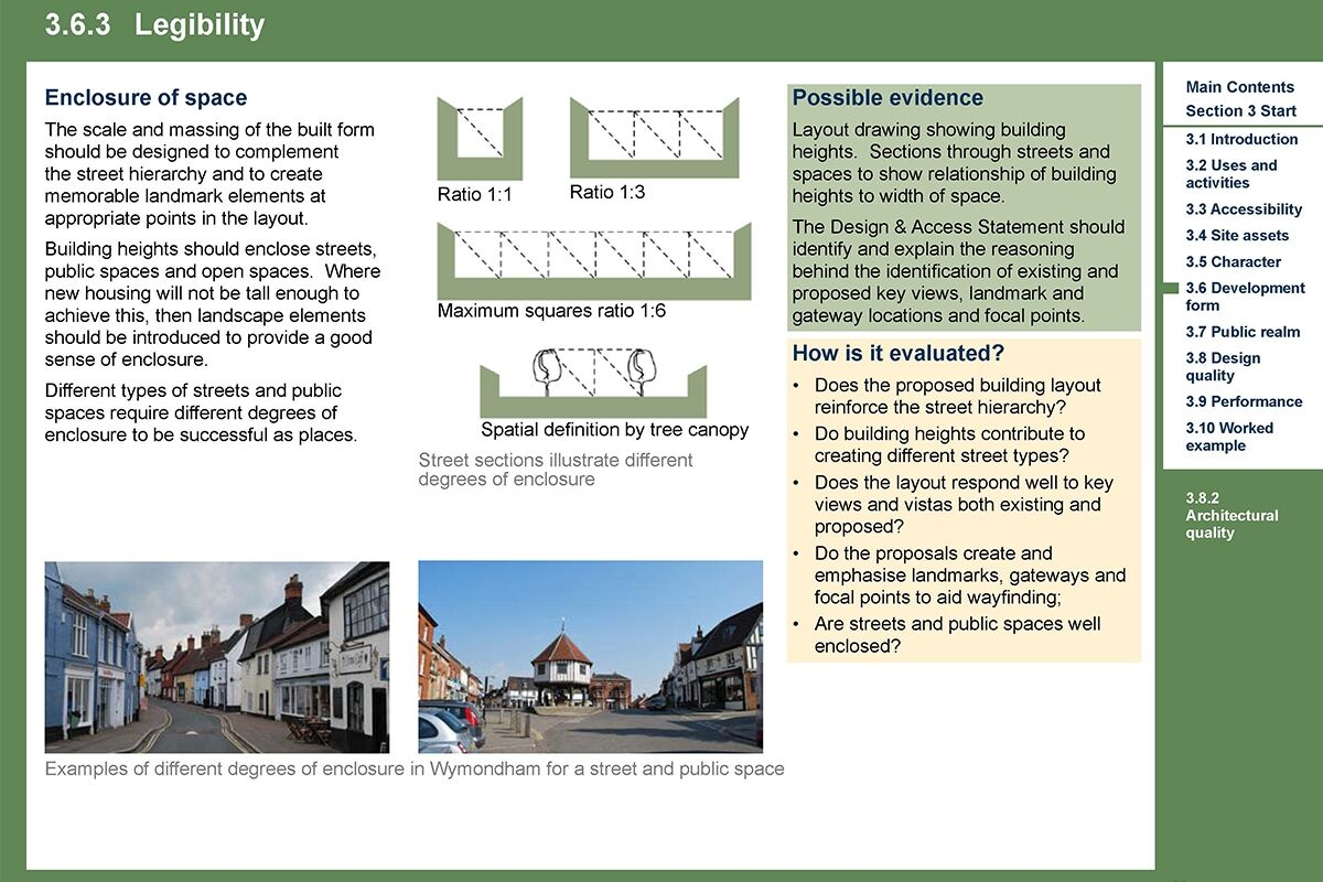 Extract for South Norfolk Placemaking Guide