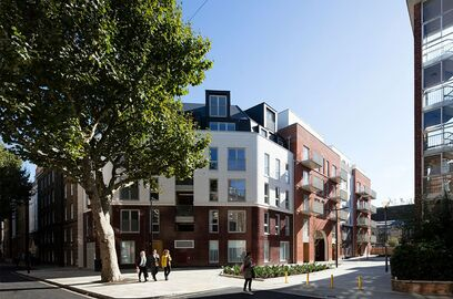 Completed development at the Bourne Estate