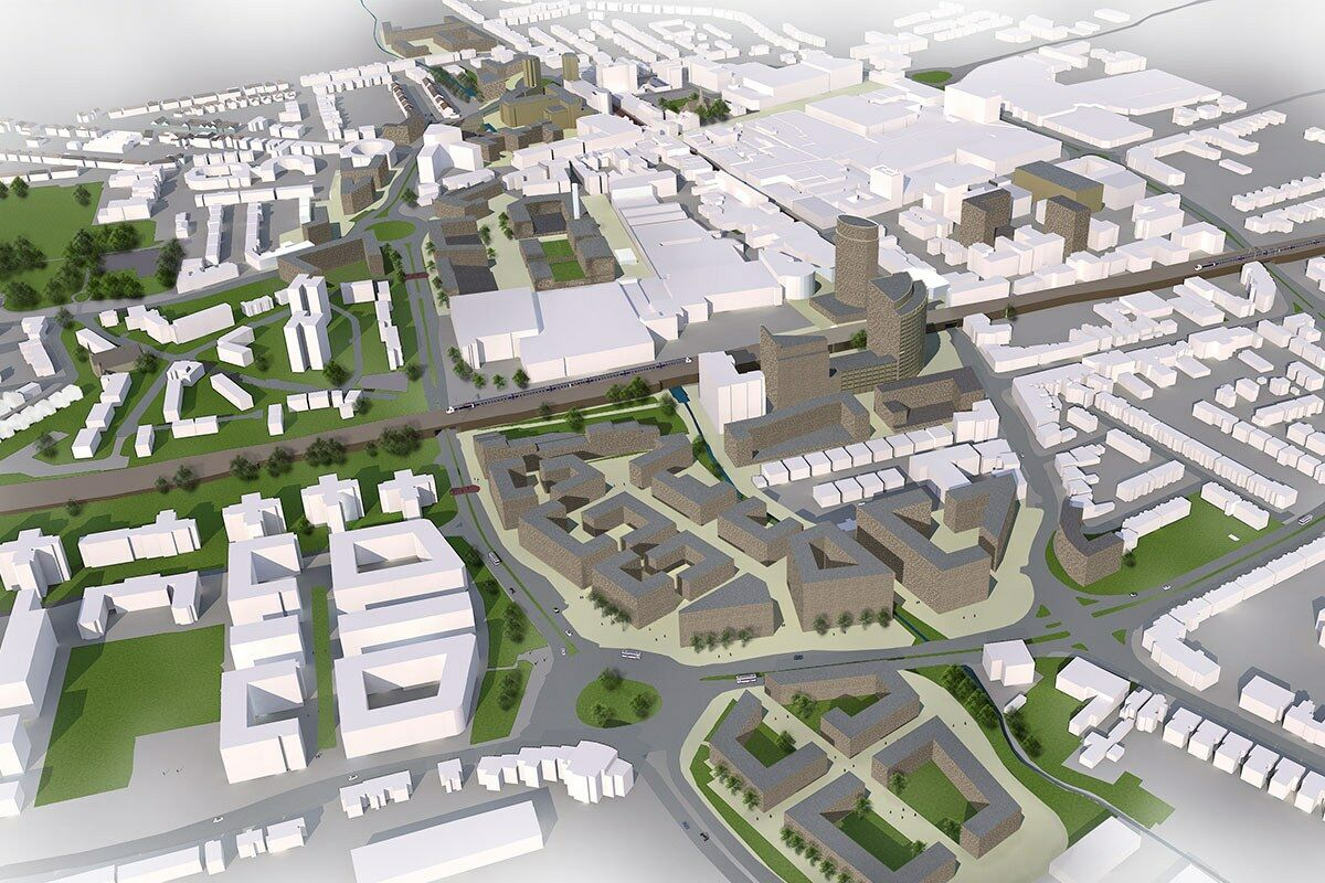 3D view - proposed built form