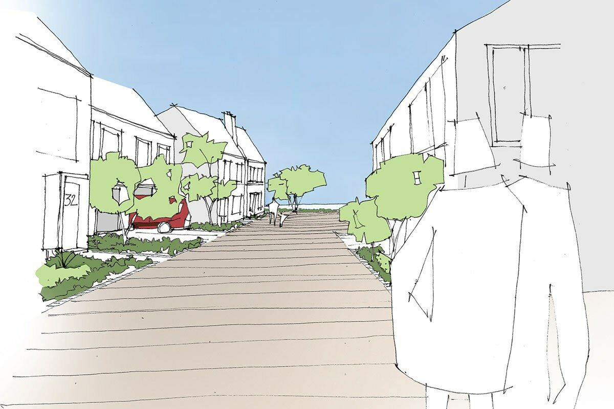 Bolsover Public Land Strategy - street view sketch