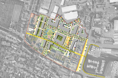 Leales Yard Vision concept masterplan