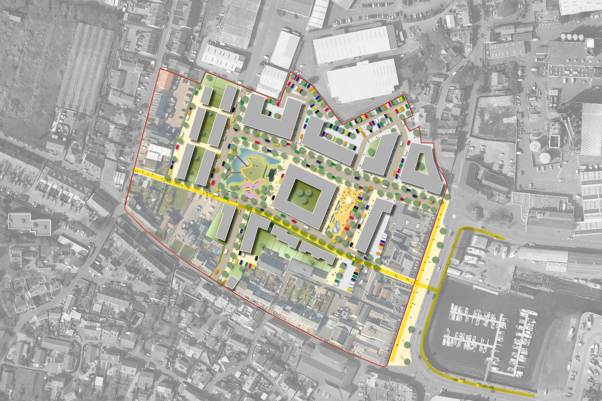 Leales Yard Vision concept masterplan